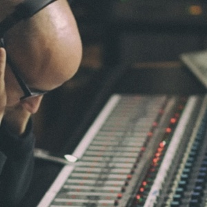 Moby in the studio mixing
